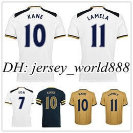 Wholesale Top Thai quality Home Away RD Soccer Jersey SON KANE LAMELA ERIKSEN Football shirt