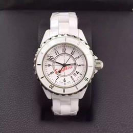 Relojes de marca de lujo aaa Lady White Relojes de cerámica Relojes de pulsera de cuarzo de alta calidad para mujeres Relojes de mujer exquisita desde cerámica blanca reloj de pulsera proveedores