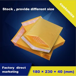 Wholesale Golden Kraft Bubble Mailers Padded Envelopes Yellow mail Air Bags mm