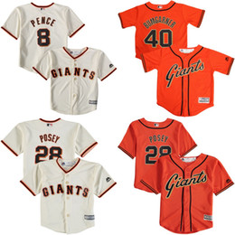 Wholesale Cheap youth San Francisco Giants Hunter Pence Buster Posey Bumgarner Baby old year Cool Base toddler Jersey stitched S L