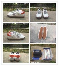 Wholesale Golden Goose Low White Grey Orange Foot Skin Italian Deluxe Brand Sneaker Men s Luxury Casual Shoes