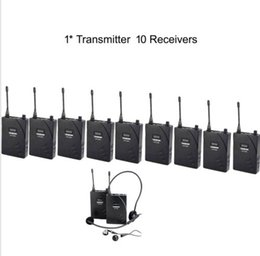 Hot Boutique Recommended UHF Wireless Tour Guide   Translation System 1 Transmitter 10 Receivers free shipping by AIBIERTE 2016