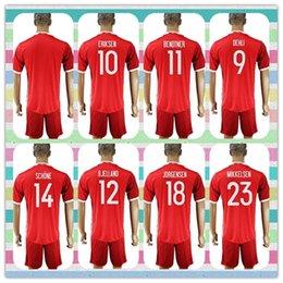 Wholesale New Product Uniforms Kit Denmark European cup ERIKSEN BENDTNER MIKKELSEN DEHLI Red Jerseys Soccer Jersey full Shirt