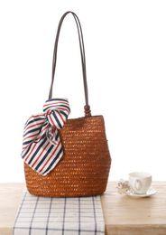 wholesale new style straw bag women beach shoulder bag seaside essential big handbags bags free shipping