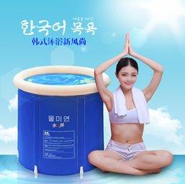 Wholesale SPA tub Portable inflatable bath Folding Tub Bath Bucket Adult Bathtub Inflatable Bathtub Child Bath Thickening Bucket Bath
