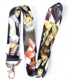 Wholesale Hot New Japanese anime BLEACH Lanyards Straps For ID Badge Mobile Phone