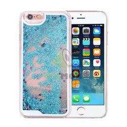 Cute 3D Dynamic Quicksand Star Liquid Shiny Bling Glitter Sparkle Transparent Crystal Clear Hard PC Cover Case for iphone 6