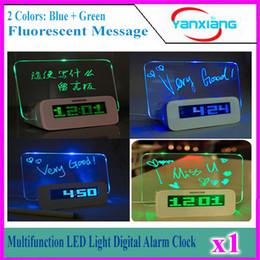 Alarme multifonction Digital Light LED Horloge Fluorescent message Panneau Snooze Calendrier Minuteur Température + surligneur 1PCS YX-LYD-01 à partir de avis dirigés fabricateur