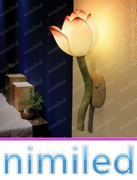 Wholesale nimi805 moderne décoratif Lotus Chinese Wall Lamp Living Room Restaurant Chambre Couloir Escaliers Creative chevet Lumières Lighting
