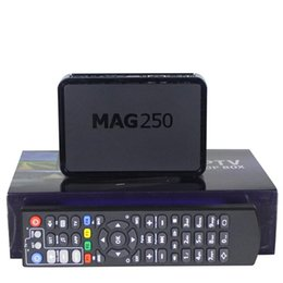 Wholesale Set Top Box Tv Tuner - Mag250 Android Smart TV Box IPTV Video Mag 250 Channels Set Top Box STB Google Internet Quad Core Media Player VS Mag254