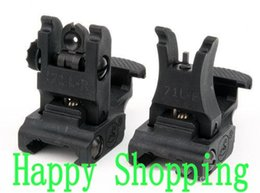 New A.R.M.S. #71L ARMS Polymer Front And Rear Flip-up Folding Sight Black
