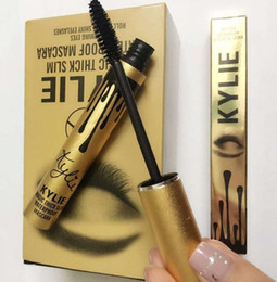 Wholesale Kylie Jenner Mascara Magic thick slim waterproof mascara Black Eye Mascara Long Eyelash Charming eyes Cosmetic Gold Birthday ePacket Free