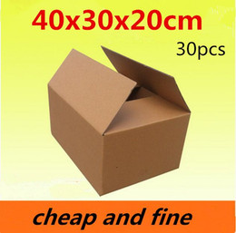40x30x20cm 30pcs High quality wholesale kraft paper boxes  Thicken three floor fluting kraft packaging gift,cosmetics caisses