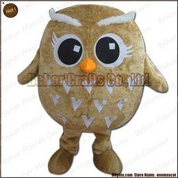 Costume de mascotte de commande en Ligne-Costume de mascotte de hibou la livraison libre, adulte bon marché de bande dessinée de mascotte de hibou de peluche de haute qualité, acceptent l'ordre d'OEM.