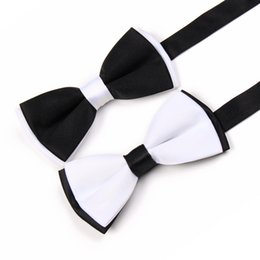Free Shipping TIESET Men's Wedding Bow Tie Groom Groomsman Dinner-jacket Tails formal suit Bow Tie Black And White