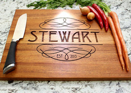 Wholesale Personalized Wedding favors and gifts Custom Engraved Wooden Cheese Kitchen Board Wood chopping Blocks bamboo cutting boards