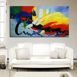 Wholesale oil painting Home decoration painting Wall decoration art The thick bottom texture Hand art Single width