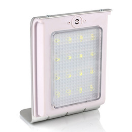 Solar Powered 16 LEDs Sound Sensor Solar Powered Panel Light Garden Lamp Outdoor Wall Light IP64 800mAh Battery Auto On Off Pure White