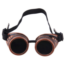 Wholesale Cyber Goggles Steampunk Glasses Vintage Retro Welding Punk Gothic Victorian Top Quality Cheap glasses High Quality victorian