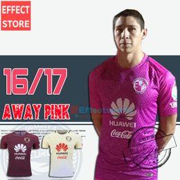 Wholesale Whosales Club America Soccer Jerseys away pink TOP QUALITY Club America Jersey R SAMBUEZA P AGUILAR O Peralta Football Shirt