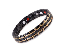 Wholesale Fashion Quantum Bio Energy Stainless Steel Magnetic Health Bracelet With Germanium Infrared Anion Benefits
