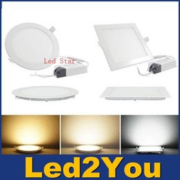 Wholesale Dimmable Led Down Lights Panel Lights W W W W W Led Recessed Lights Downlights Ceiling Lamp AC V CE UL