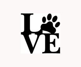 Wholesale D564 LOVE PAW Sticker Family Car Window Vinyl Decal Cute Animal Pet Dog Cat Wall Art