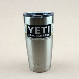 Wholesale 20oz Yeti Rambler Tumbler Stainless Steel Vacuum Insulated Cup Double Walled Travel Mug Car Beer Coffee Cup