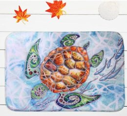 Wholesale Latest design the sea turtle household bedroom door non slip mat mixed batch of factory custom carpet