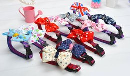 Wholesale 20 Solid Pet Dog Neck Bow Tie Colorful Cat Dogs Headdress Adjustable Collars Leashes Apparel Christmas Decorations