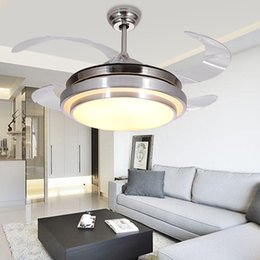 Wholesale LED ing Hidden Invisible Fan Ceiling Light Lamp For Foyer Bedroom Dinning Room Villa