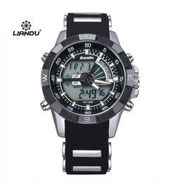 Relojes de los hombres titular en venta-Hombre Relojes de cuarzo para hombre Relojes de pulsera de silicona para hombre Relogio Masculino LIANDU Relojes de mano para hombre B220