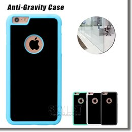 Wholesale Anti gravity Case For Iphone Case Magical Nano Stick On The Wall Back Cover Case For Samsung S6 S7 Edge With OPP Package