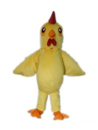 Wholesale With one mini fan inside the head a yellow rooster mascot costume for adult to wear