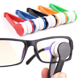 La limpieza de lentes de gafas en Línea-50pcs / lot de la mini de microfibra de los vidrios limpiador de microfibra Gafas de sol ocular más limpia trapo limpio Herramientas Ropa lentes