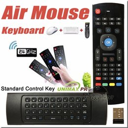 Wholesale U1 Wirless Mini Keyboard Air Mouse Remote Control G Sensing Gyroscope Sensor MIC Combo MX3 For MXQ M8S S905 Android TV BOX