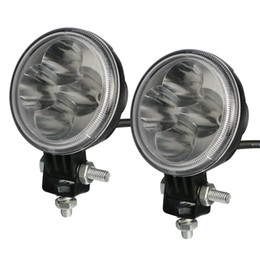 Wholesale 12w SINLONG inch Led Lights Driving Working light die casting alloy Waterproof v v Car Round LED Lamp Light