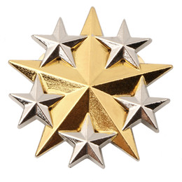 Wholesale US UNITED STATES ARMY SIX STAR GENERAL RANK METAL HAT BADGE