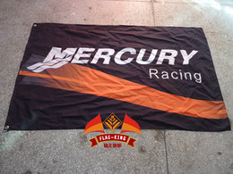 Free shipping,100% polyester 90*150cm,Performance Marine and Automotive Engines banner,Digital Printing,mercury racing flag