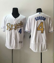 Wholesale 2016 New MLB Kansas City Royals Baseball Jerseys Alex Gordon Majestic White World Series Champions Gold Program Stitched Name Number