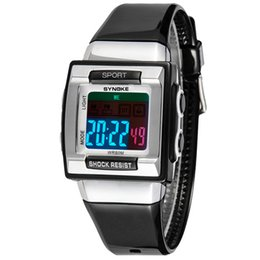 Casual Kid Silicone Strap Square Dial LED Digital Dress Watches Luxury Students Sport Watch Outdoor Water Resistant Watch for Kids