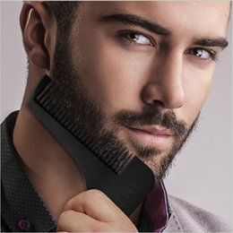 Beard Shaping Tool for Perfect Lines Hair Trimmer for Men Trim Template Hair Cut Gentleman Modelling Comb