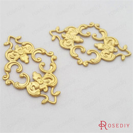 Wholesale-(29452)20PCS 36*23MM Not plated color Brass Decorative Connect Pendants Diy Jewelry Findings Jewelry Accessories wholesale