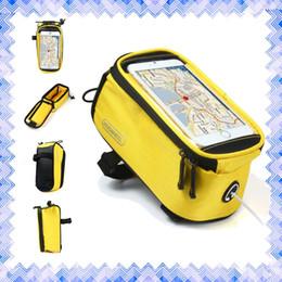 Acheter en ligne Nouveaux écrans de téléphone-Écran tactile selle de vélo Sac Holder Guidon Pocket Téléphone Sac Équitation Cyclisme Fournitures Marque Imperméable