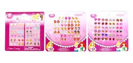 Wholesale Snow White sheets pairs OF GIRL STICK ON EARRINGS stickers stick on ring stickers
