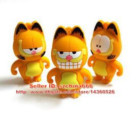 Pen Drive Garfield Cat Sleepy 1GB 2GB 4GB 8GB 16GB USB Flash Drive Memory Stick Pendrive Pendrive