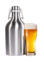 Wholesale DHL Beer Growler OZ OZ Stainless Steel Growler with Secure Swing Top Lid for Freshness Best for Craft Beer Layer Heat Insulation