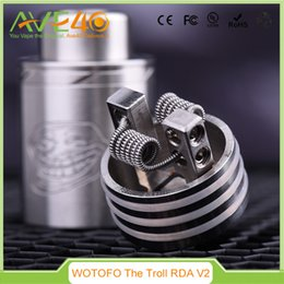 Wholesale Authentic WOTOFO The Troll V2 RDA Atomizer Designed by WOTOFO A MOD VS Doge V2 RDA Freakshow ATTY ATB165