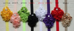 Wholesale Europe new hot baby hair accessories chiffon flowers roses flower composition polygon headbands colors e mail treasure