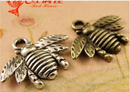 Wholesale A3757 MM Tibetan silver Jewelry accessories bee Pendant charm antique charm in bulk brass metal vintage charm fir diy